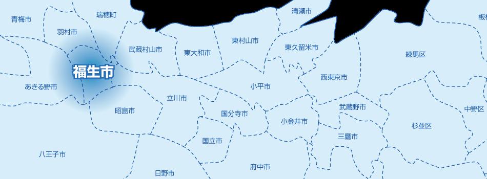 福生市の地図